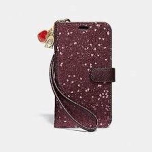 Coach Glitter iPhone X/Xs Wallet Phone Case F39467